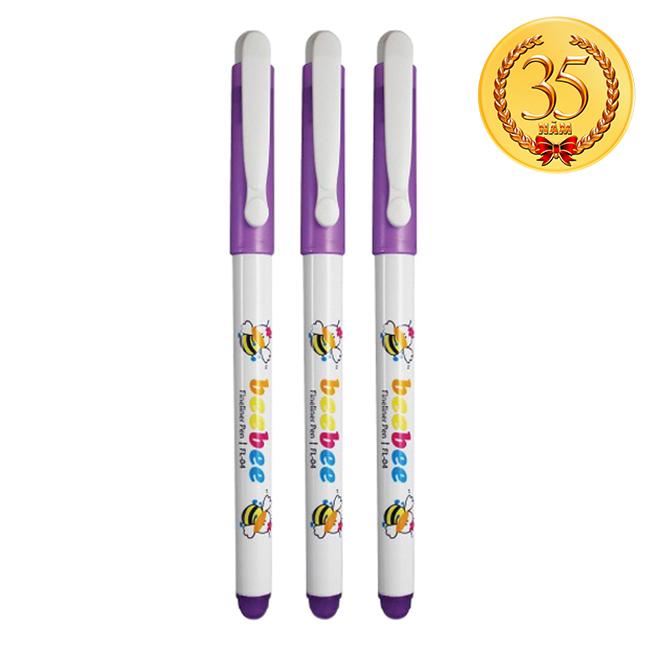 Vỉ 3 Bút Lông Kim Thiên Long FL04 - Beebee
