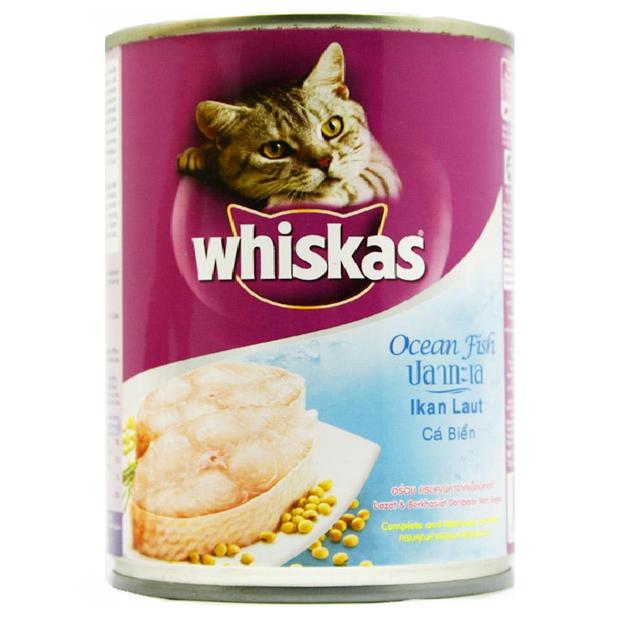 Thức Ăn Cho Mèo Whiskas Vị Cá Biển Lon 400g