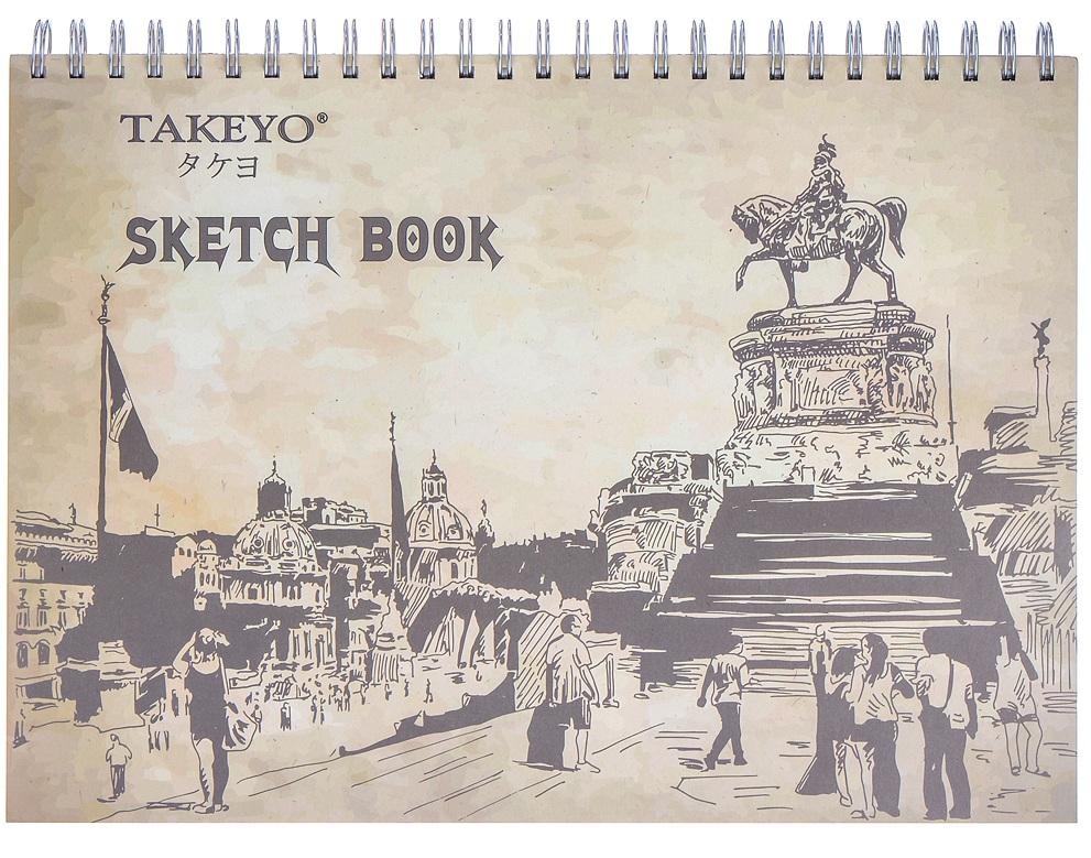 Tập Vẽ Lò Xo Takeyo B4 50 Tờ 8525 (Giao Mẫu Ngẫu Nhiên)