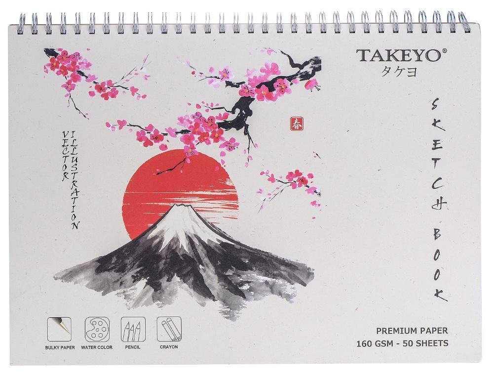 Tập Vẽ Lò Xo Takeyo A3 50 Tờ 8526