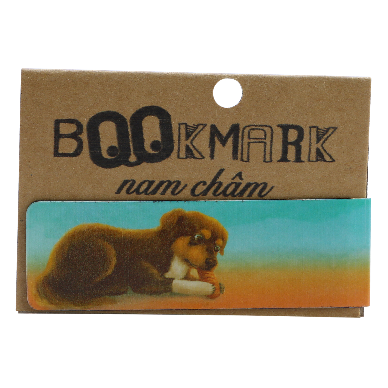Bookmark Nam Châm Kính Vạn Hoa - Con Chó Nhỏ Mang Giỏ Hoa Hồng: Haili