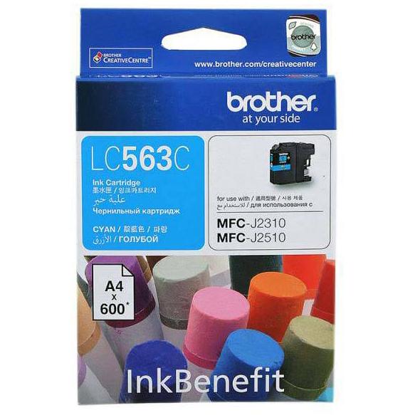 Brother LC-563C Ink Cho MFC-J2310/J2510/J3520/J3720 (Xanh lục) - Hàng Chính Hãng