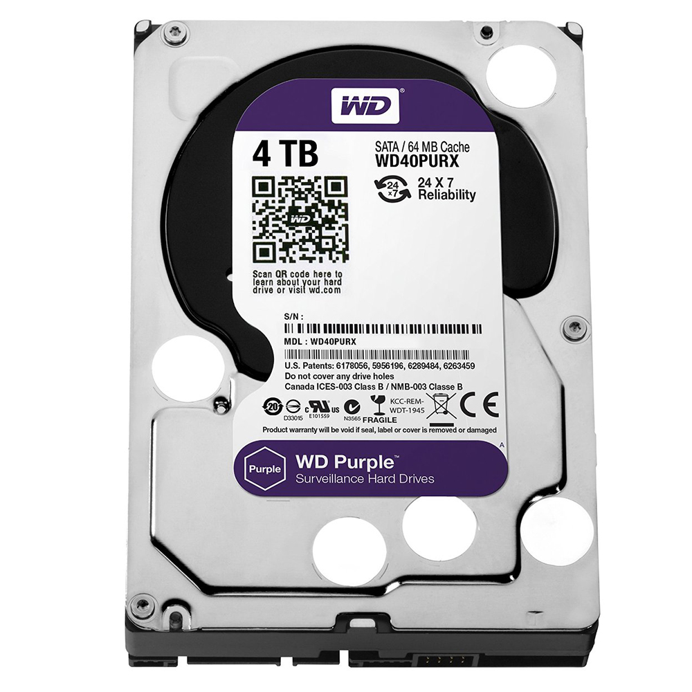 """Ổ Cứng Trong PC WD  4TB 3.5"""" Purple"""