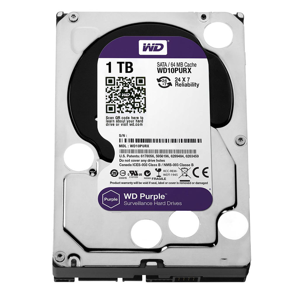 """Ổ Cứng Trong PC WD 1TB 3.5"""" Purple™"""