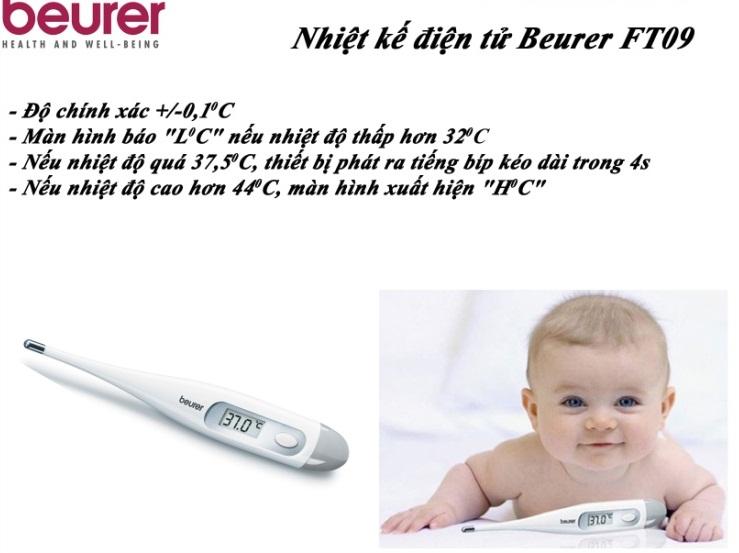 Nhiệt Kế Nhỏ Đầu Cứng Beurer FT09