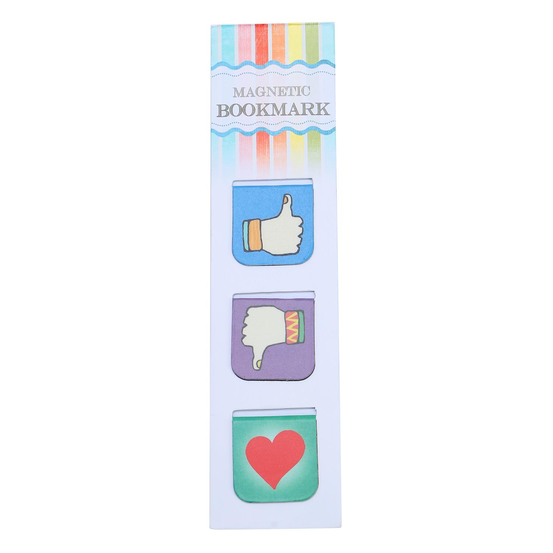 Bộ 3 Bookmark Nam Châm Kính Vạn Hoa - Love