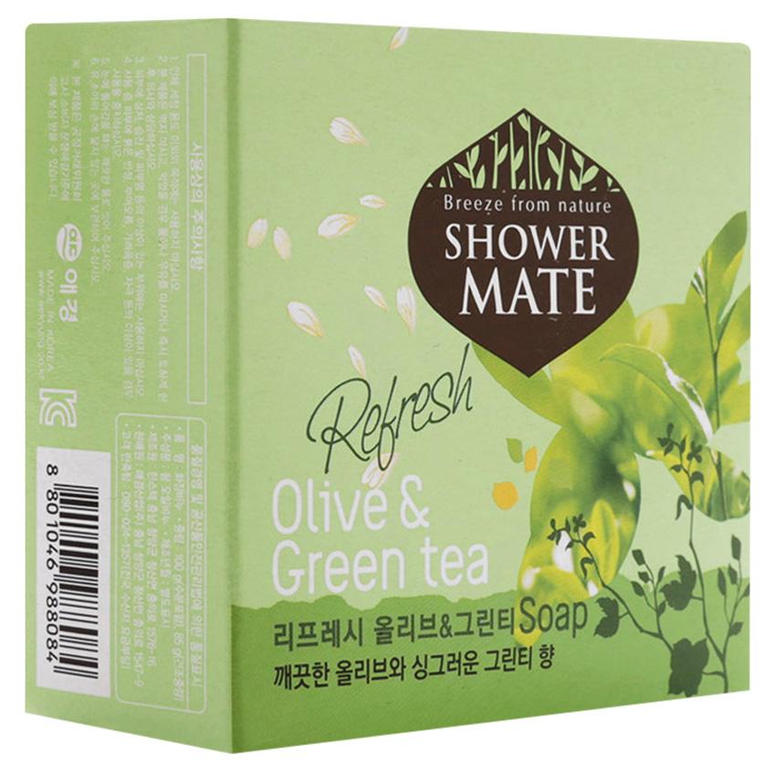 Xà Bông Tắm Kerasys Olive & Green Tea 100g - Xanh