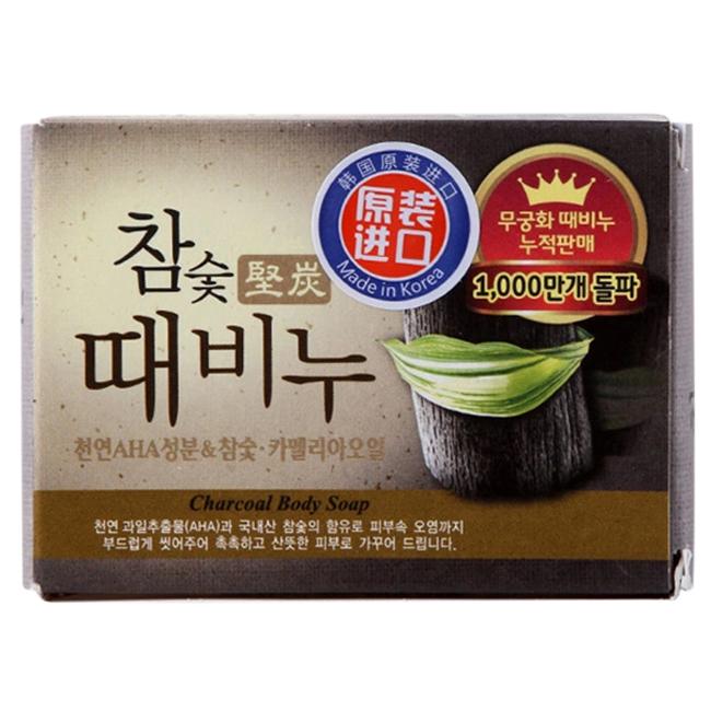 Xà Bông Tắm Mukungwa Hardwood Charcoal Scrub Soap Tinh Chất Than Hoạt Tính 100g
