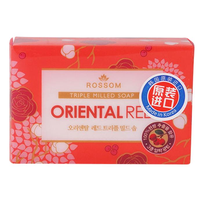 Xà Bông Tắm Rossom Oriental Red Tripble Millde Beauty Soap Tinh Chất Cherry 90g