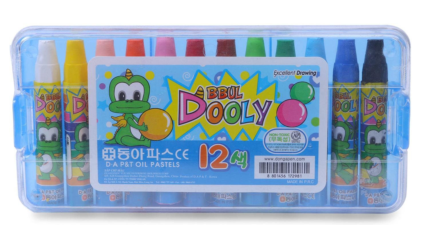 Bút Sáp Màu Dooly 12 Màu