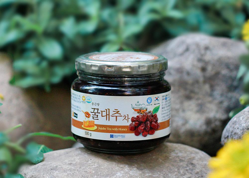 Mật Ong Táo Tàu Ginseng House - Jujube Tea With Honey Hộp 500g