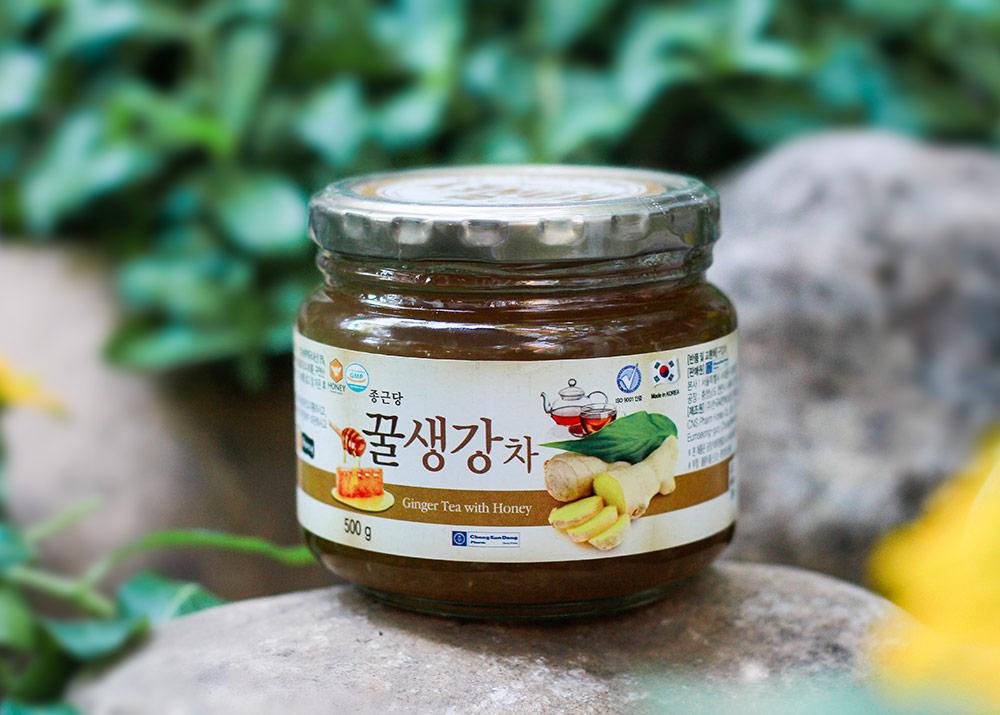 Mật Ong Gừng Ginseng House - Ginger Tea With Honey Hộp 500g
