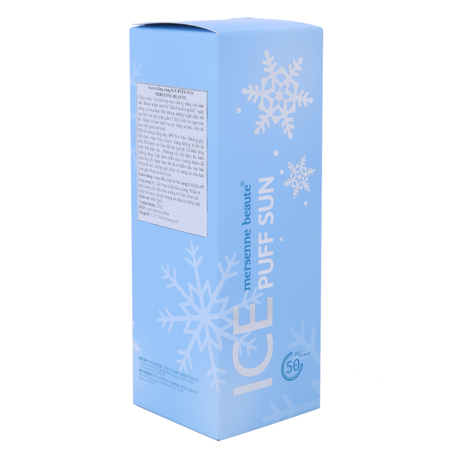 Kem Chống Nắng Ice Puff Mersenne Beaute (100ml)