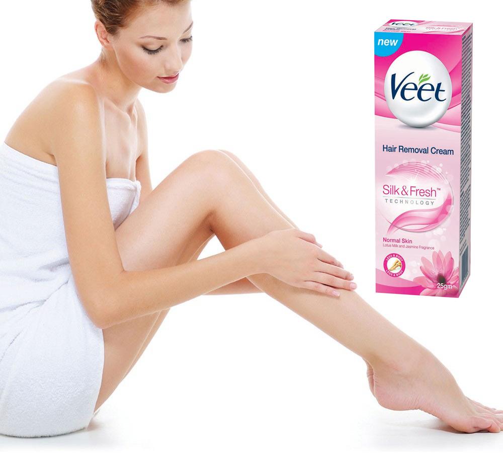 Kem Tẩy Lông Dành Cho Da Thường VEET Silk & Fresh Normal Tuýp 25g