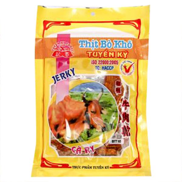 Thịt Bò Khô Tuyền Ký Vị Cà Ri Gói 35g