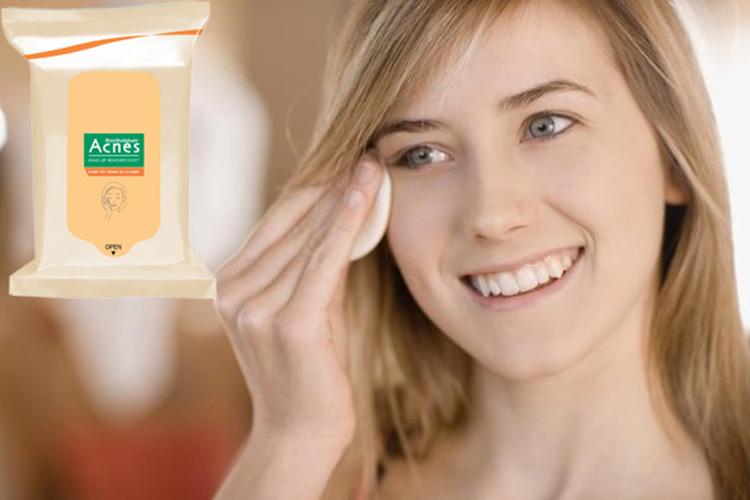 Khăn Tẩy Trang Và Lau Mặt - Acnes Make Up Remover Sheet (20 Miếng)