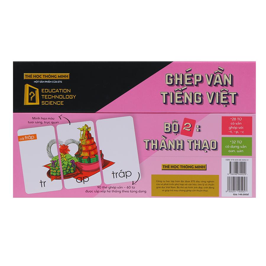Thẻ Học Thông Minh Alphabooks Ghép Vần Tiếng Việt – Bộ 2: Thành Thạo (Tái Bản)