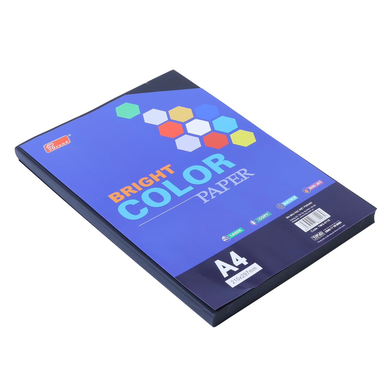 Bìa Giấy A4 Màu Đen ĐL (100 Tờ) - Mẫu Ngẫu Nhiên
