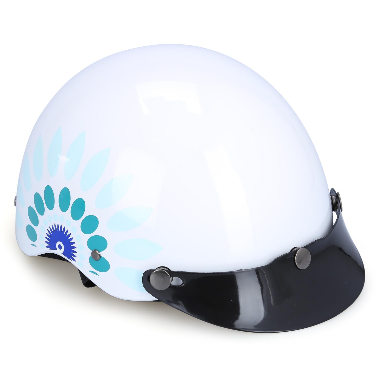 Mũ Bảo Hiểm 1/2 Đầu Protec Highway Không Kính HLWF In Họa Tiết (Size L)