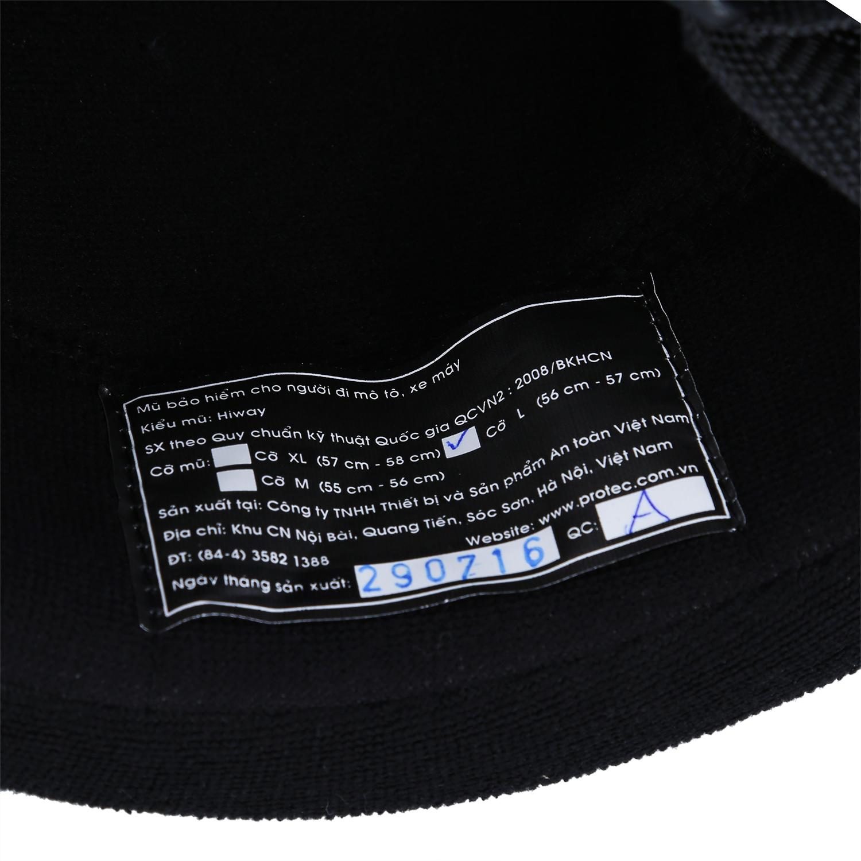 Mũ Bảo Hiểm 1/2 Đầu Protec Highway Có Kính Nửa Mặt HLWFK In Họa Tiết (Size L)