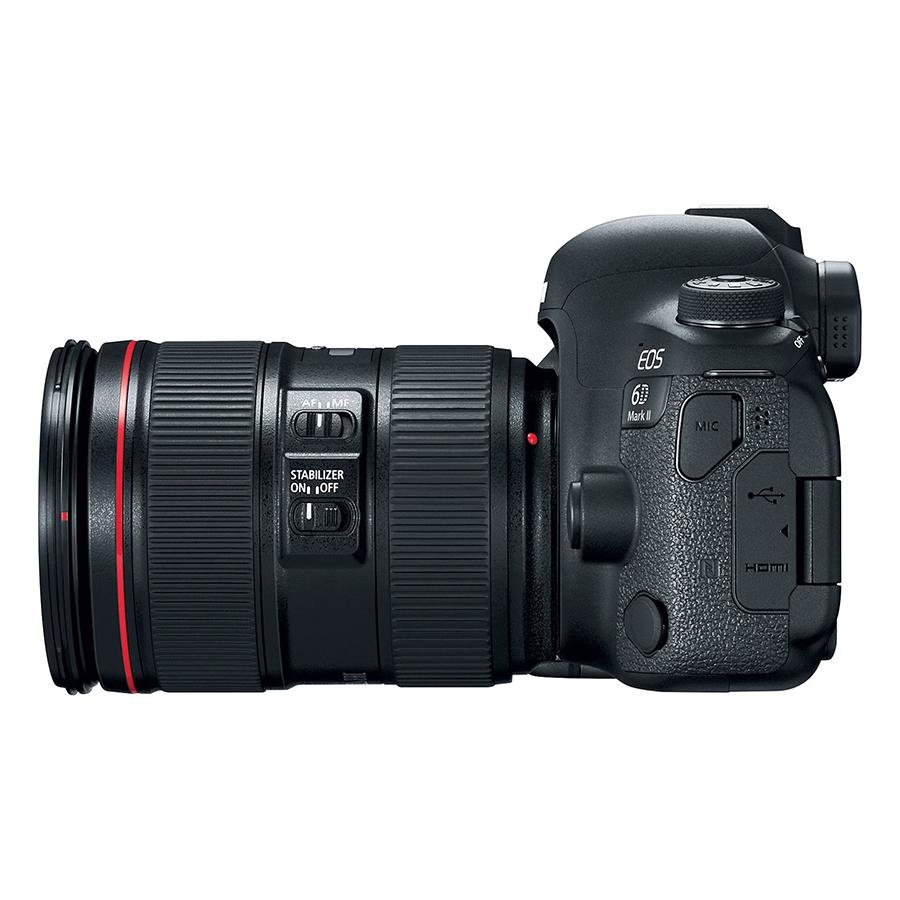 Máy Ảnh Canon EOS 6D MARK II + Lens Canon 24-105mm F4L IS II USM - Hàng Chính Hãng