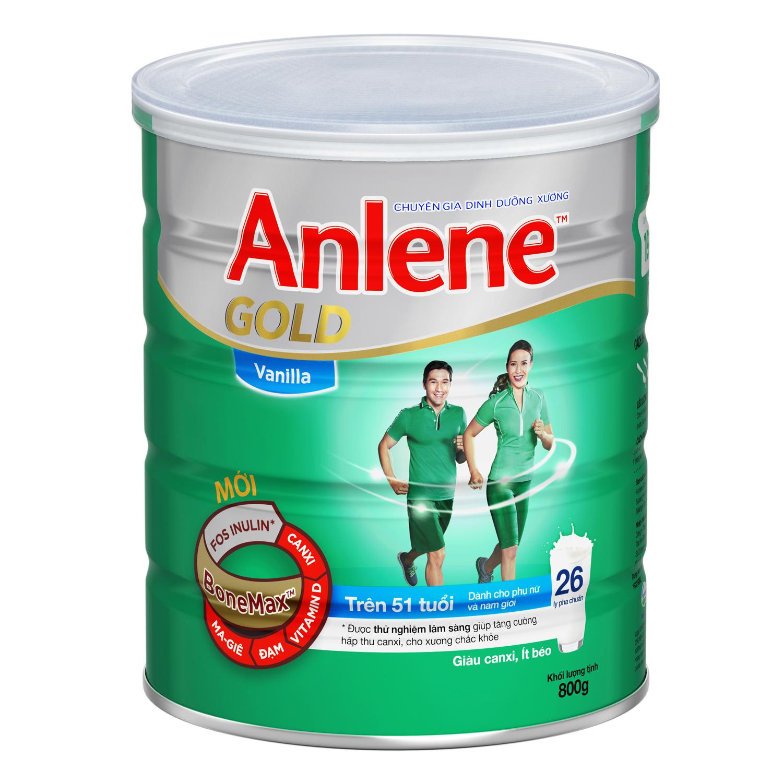 Sữa Bột Anene Gold Bonemax - Dành Cho Người Trên 51 Tuổi (Hương Vanilla, Hộp Thiếc 800g)