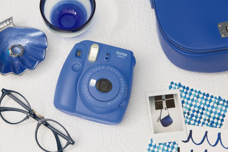Máy Ảnh Selfie Lấy Liền Fujifilm Instax Mini 9 - Cobalt Blue - Hàng Chính Hãng