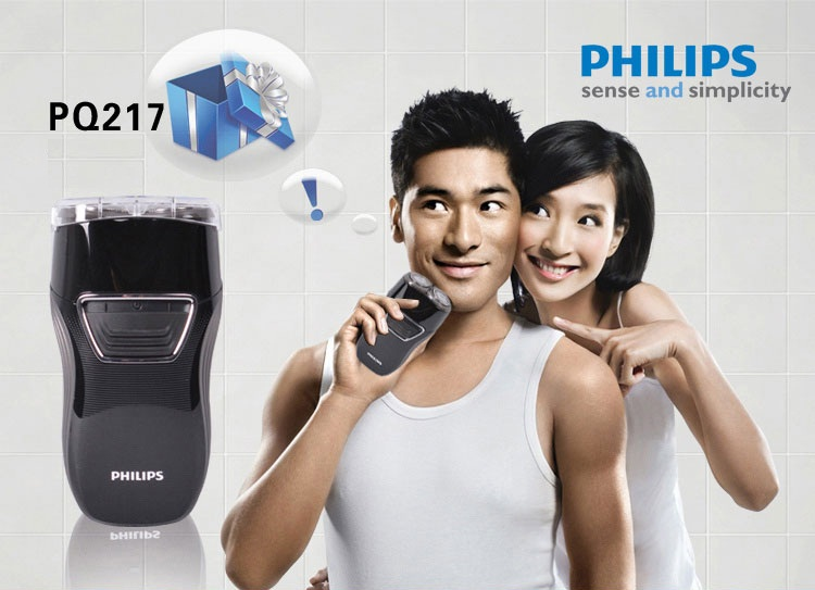 cạo râu bằng máy cạo râu Philips PQ217(đen)