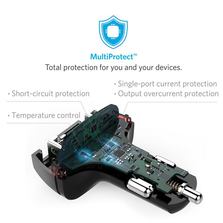 Sạc Xe Hơi Anker PowerDrive+ 2 cổng USB QC 2.0 - A2221011
