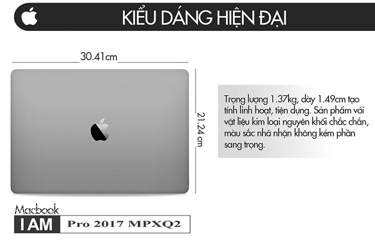 Macbook Pro 2017 MPXQ2 (Gray) - Hàng Chính Hãng