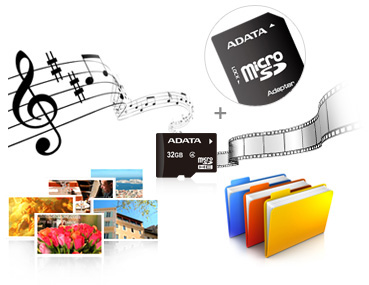 Thẻ nhớ Adata MicroSD lưu trữ nhiều loại dữ liệu khác nhau
