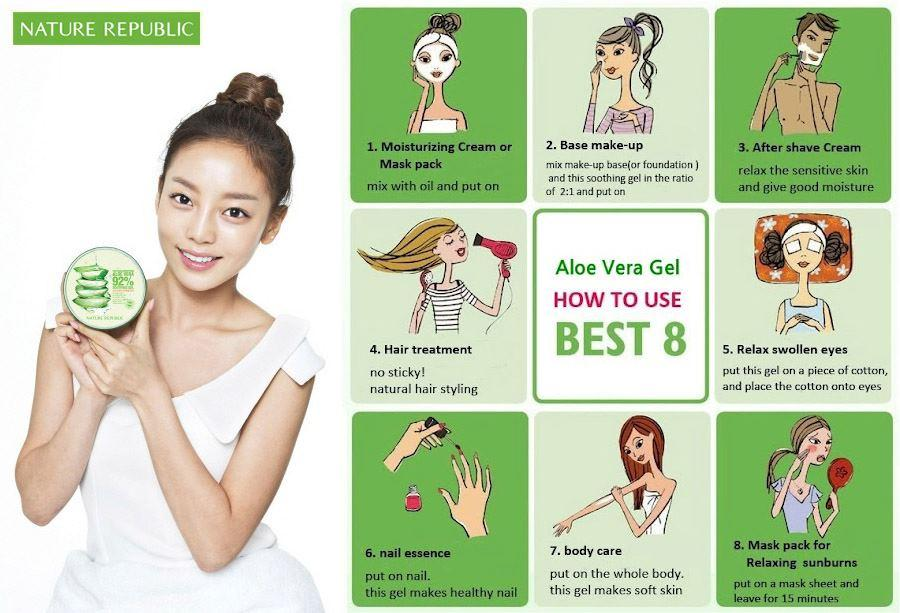 Gel Lô Hội Nature Republic Soothing & Moisture Aloe Vera 92% Soothing Gel (300ml)