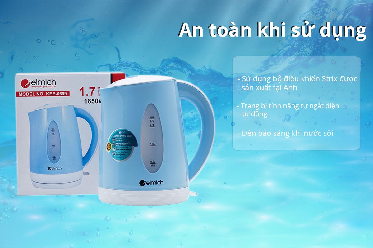 Bình Đun Siêu Tốc Elmich KEE-0699 - 1.7L