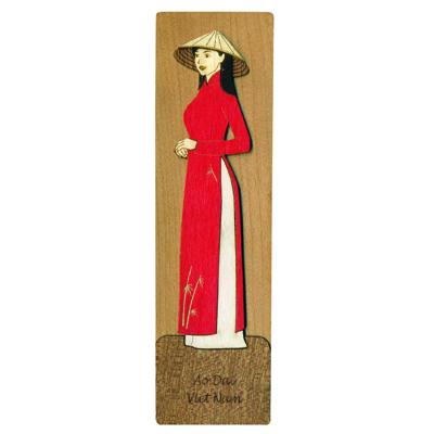 Bookmark Veneer Màu Việt Net - Áo Dài Quê Hương Mẫu 1