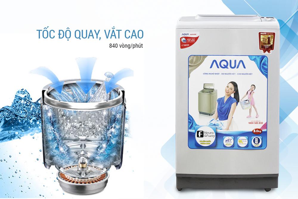 Máy Giặt Cửa Trên Aqua AQW-S80KT (8 Kg)