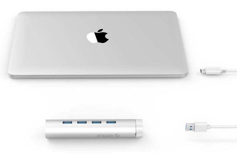 Hub USB 3.0 Type C Orico 4 Cổng ARH4-U3 - Hàng Chính Hãng