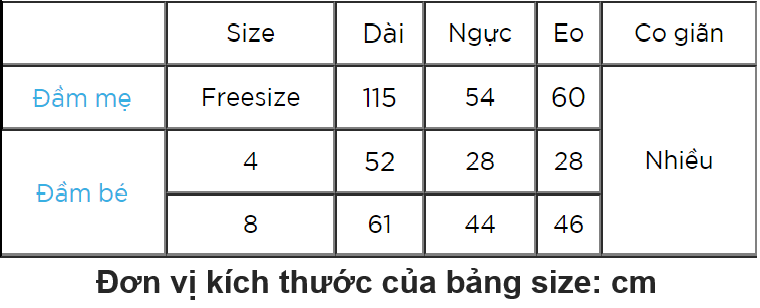 Combo Đầm Mẹ Bé Cúp Ngực CIRINO CB_DAMCUPNGUC_CV_S4 - Cúc Vàng
