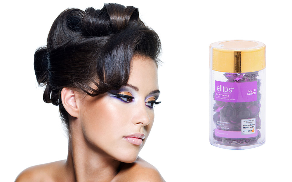 Serum Vitamin Dưỡng Tóc Uốn Nhuộm Ellips Nutri Color (Hộp 50 Viên ) - 100707095