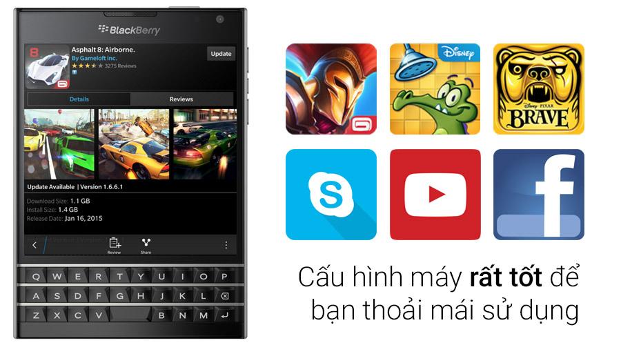Điện Thoại Blackberry Passport (Đen) - Hàng Nhập Khẩu