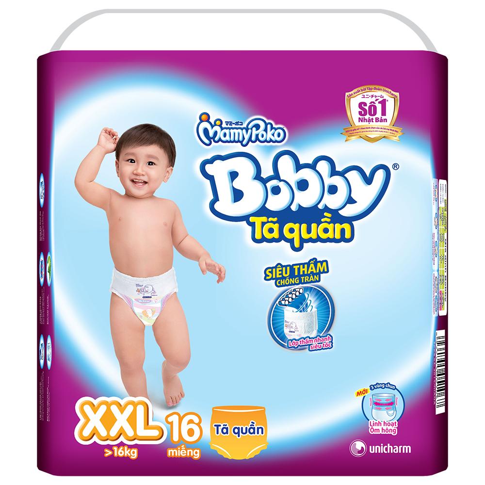 Tã Quần Bobby Siêu Thấm XXL16 (16 Miếng)