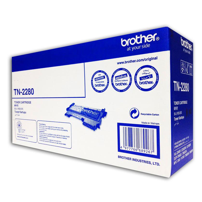 Brother TN-2280 Toner Cho HL-2240D/2250DN/2270DW/FAX-2840 (High-Yield) - Hàng Chính Hãng