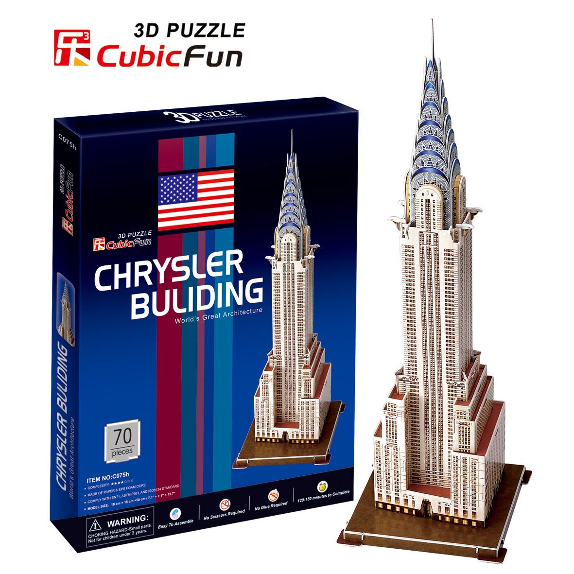Mô Hình Giấy Cubic Fun: Tòa Nhà Chrysler [C075h]