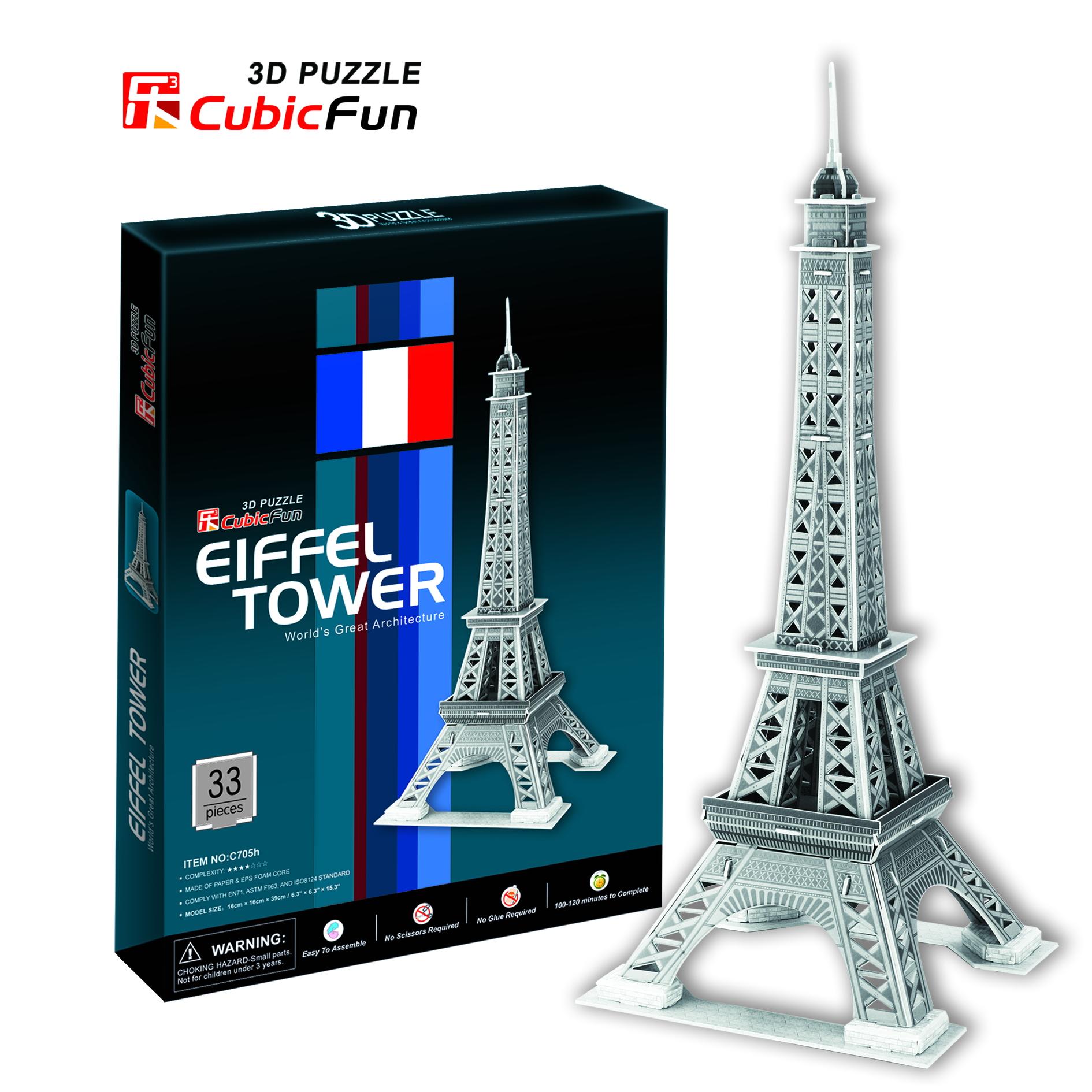 Mô Hình Giấy Cubic Fun: Eiffel Tower [C705h]