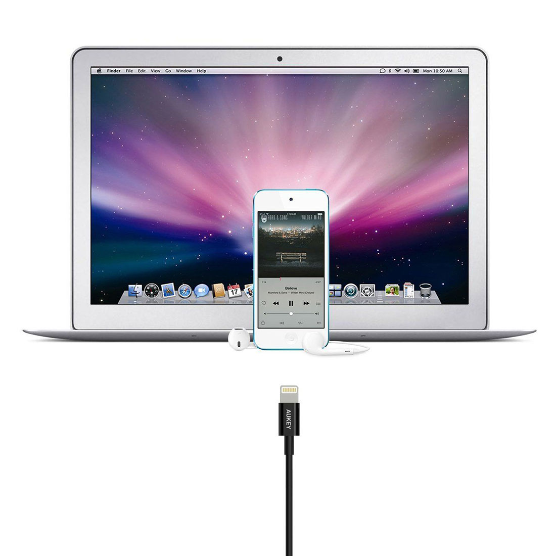 Cáp Aukey Lightning MFI To Usb 8 Pin Sync Charge Cable CB -D8