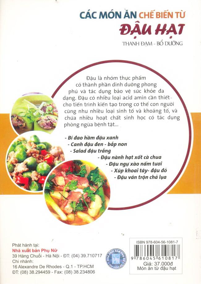 Các Món Ăn Chế Biến Từ Đậu Hạt