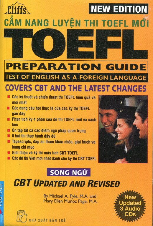 New Cliffs Toefl Preparation Guide  - Song Ngữ (Tái bản - Kèm 3CD)
