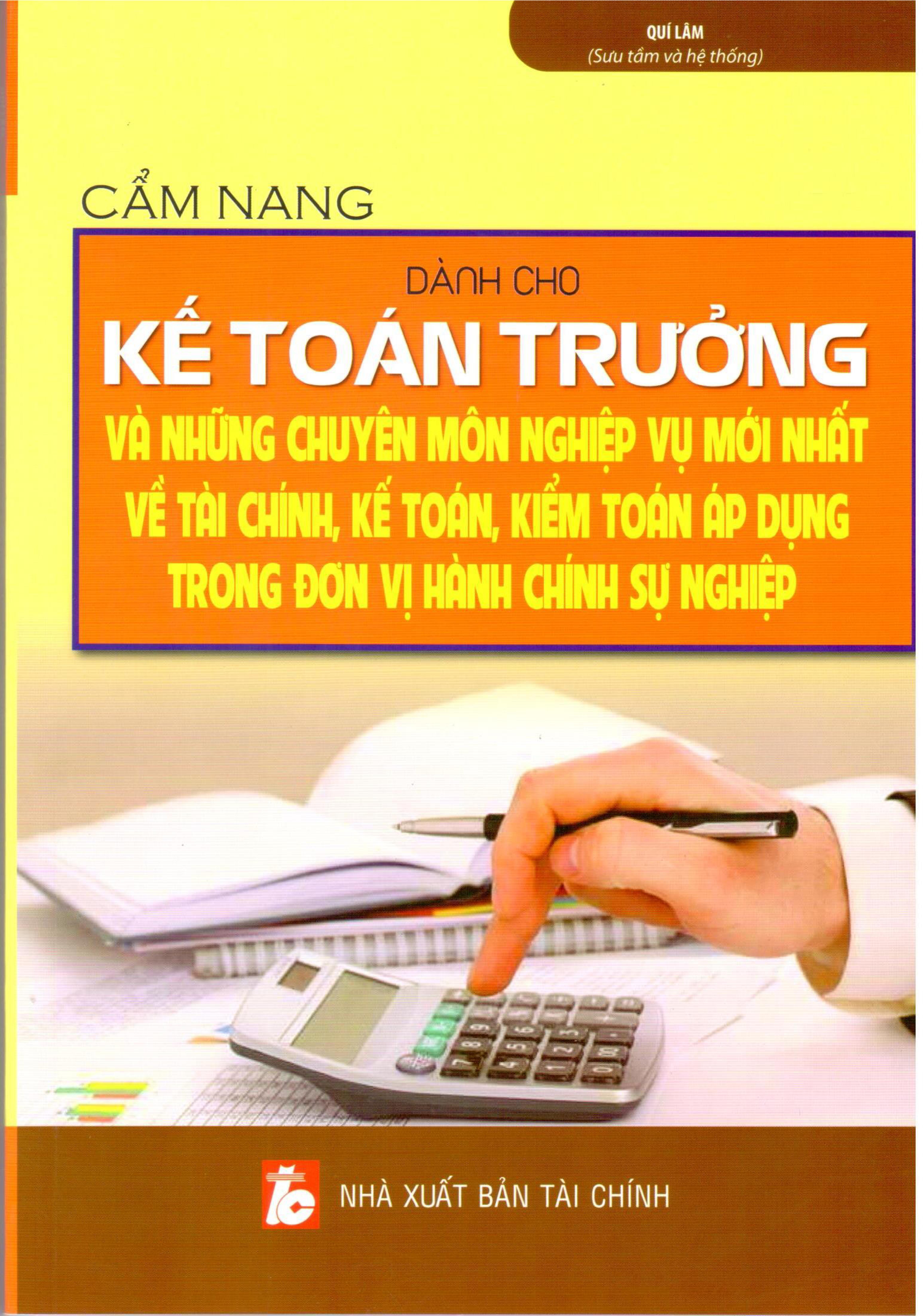 Cẩm Nang Dành Cho Kế Toán Trưởng Đơn Vị Hành Chính Sự Nghiệp