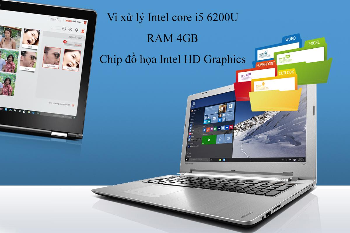 Laptop Lenovo IdeaPad Yoga 500 80R6000EVN (Trắng)