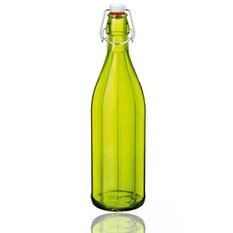 Chai Thủy Tinh Nắp Cài Kín Hơi Oxford Bormioli Rocco (Xanh Lá) - 1 Lít