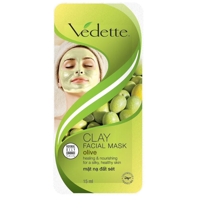Mặt Nạ Đất Sét Vedette Olive 15g - 8936035201230,62_81288,13000,tiki.vn,Mat-Na-Dat-Set-Vedette-Olive-15g-62_81288,Mặt Nạ Đất Sét Vedette Olive 15g